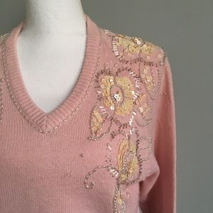 Vintage embellished sweater